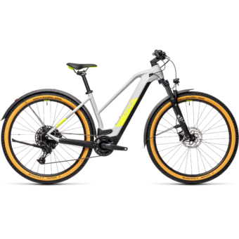 CUBE REACTION HYBRID PRO 500 TRAPÉZ ALLROAD grey´n´yellow Női Elektromos MTB Kerékpár 2021