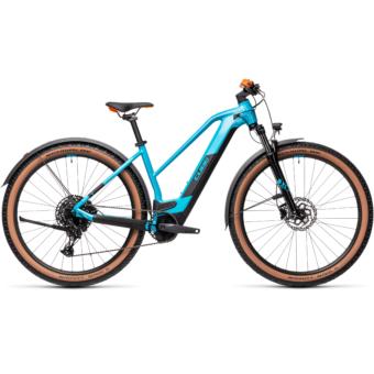 CUBE REACTION HYBRID PRO 500 TRAPÉZ ALLROAD petrol´n´orange Női Elektromos MTB Kerékpár 2021