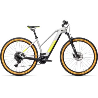 CUBE REACTION HYBRID PRO 500 TRAPÉZ grey´n´yellow Női Elektromos MTB Kerékpár 2021