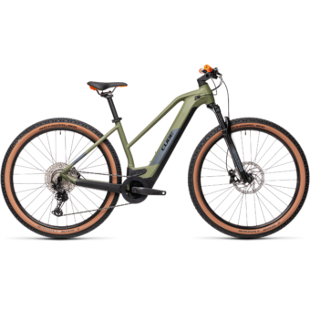 CUBE REACTION HYBRID RACE 625 TRAPÉZ green´n´orange Női Elektromos MTB Kerékpár 2021