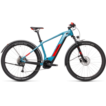 Cube Reaction Hybrid Performance 400 ALLROAD blue´n´red Férfi Elektromos MTB Kerékpár 2021