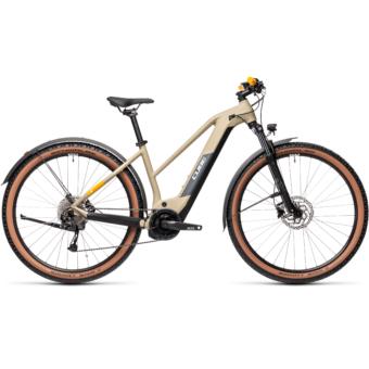 Cube Reaction Hybrid Performance 625 TRAPÉZ ALLROAD desert´n´orange Női Elektromos MTB Kerékpár 2021