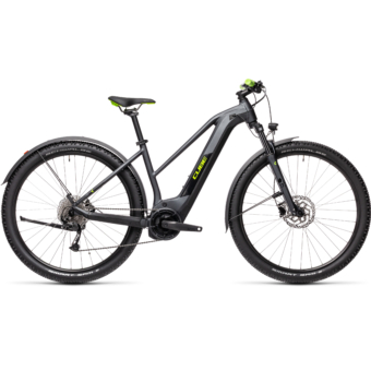 Cube Reaction Hybrid Performance 625 TRAPÉZ ALLROAD iridium´n´green Női Elektromos MTB Kerékpár 2021
