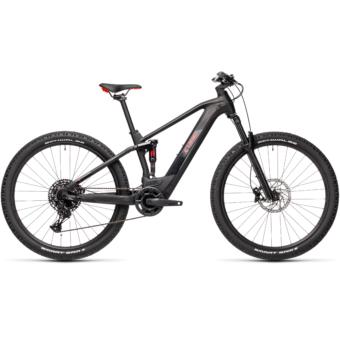 Cube Stereo Hybrid 120 PRO 500 black´n´red Férfi Elektromos Összteleszkópos MTB Kerékpár 2021