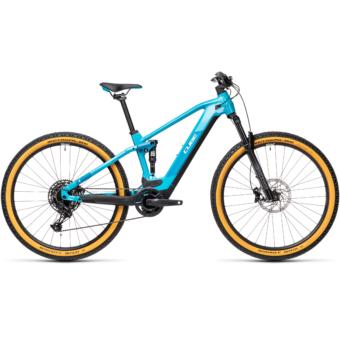 Cube Stereo Hybrid 120 PRO 500 petrol´n´blue Férfi Elektromos Összteleszkópos MTB Kerékpár 2021
