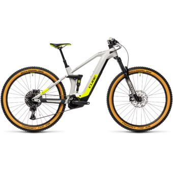 Cube Stereo Hybrid 140 HPC RACE 625 grey´n´yellow Férfi Elektromos Összteleszkópos MTB Kerékpár 2021
