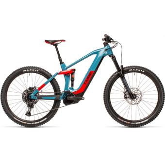 Cube Stereo Hybrid 160 HPC RACE 625 27,5 blue´n´red Férfi Elektromos Összteleszkópos MTB Kerékpár 2021