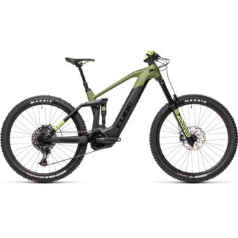 Cube Stereo Hybrid 160 HPC SL 625 27,5 olive´n´black Férfi Elektromos Összteleszkópos MTB Kerékpár 2021