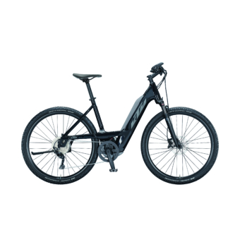 Ktm Macina Cross 620 EASY ENTRY metallic black (grey+blue) Férfi Elektromos Cross Trekking Kerékpár 2021