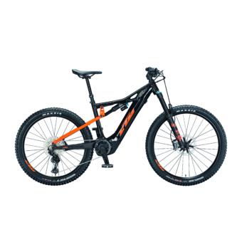 Ktm Macina Kapoho 2971 metallic black (orange) Férfi Elektromos Összteleszkópos MTB Kerékpár 2021