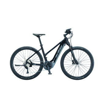 Ktm Macina Cross 620 TRAPÉZ metallic black (grey+blue) Női Elektromos Cross Trekking Kerékpár 2021