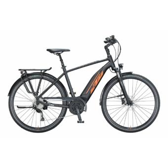 KTM MACINA FUN A 510 black matt (orange+grey) Férfi Elektromos Trekking Kerékpár 2021
