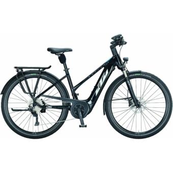 KTM MACINA TOUR P 610 metallic black (white+blue) Férfi Elektromos Trekking Kerékpár 2021