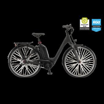 """Winora Tria N8 500 28"""" Black Matt EASY ENTRY Unisex Elektromos Városi Kerékpár 2021"""