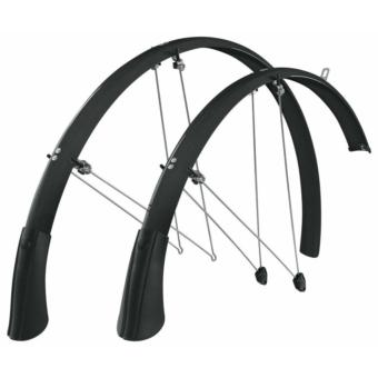 SKS-Germany Longboard kerékpár sárvédő szett [fekete, 35 mm]