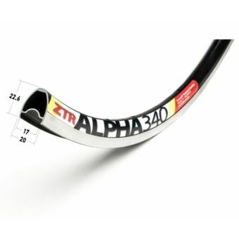 Abroncs Nutubes ZTR Alpha 340 20 lyuk 622 fekete
