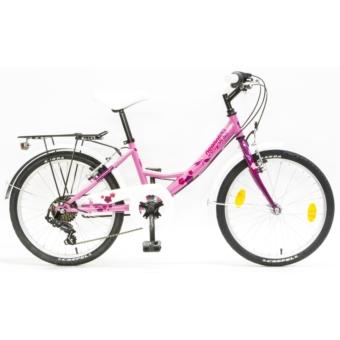 Csepel FLORA 20 6SP 17 ROZSA-CIKLÁMEN SZITAKÖTÖ gyermek kerékpár - 2020