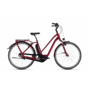 CUBE TOWN HYBRID PRO 500 DARKRED´N´RED 2018 EASY ENTRY Elektromos Kerékpár