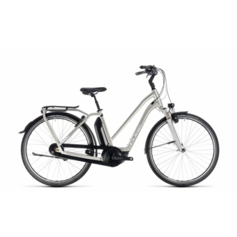 CUBE TOWN HYBRID EXC 500 SILVER´N´WHITE 2018 EASY ENTRY Elektromos Kerékpár