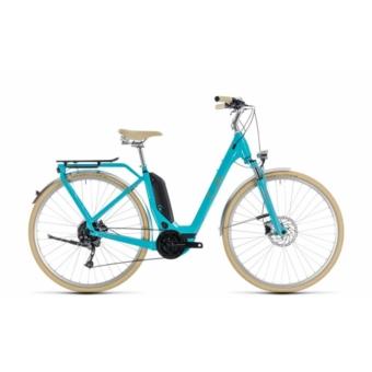 CUBE ELLY RIDE HYBRID 500 AQUA´N´ORANGE 2018 EASY ENTRY Elektromos Kerékpár