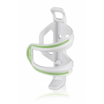 Kerékpár Kulacstartó Sidecage kis vázakhoz, muanyag, fehér-zöld 49 g BC-S06