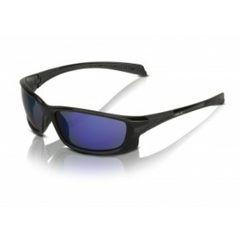Kerékpár Napszemüveg Nassau fekete, fekete keret, kék lencse SG-C11