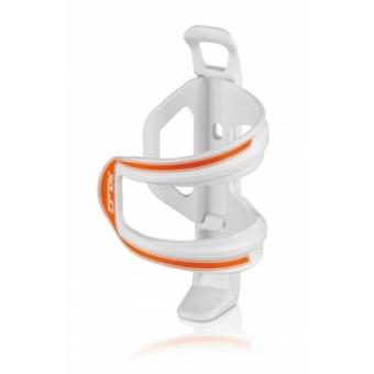 Kerékpár Kulacstartó Sidecage kis vázakhoz, muanyag, fehér-narancs 49 g BC-S06