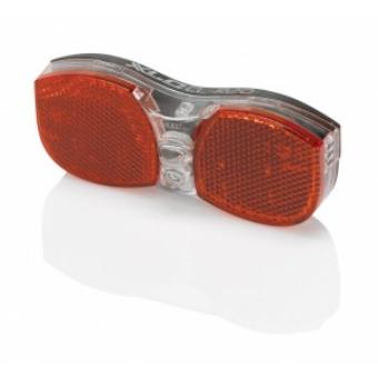 Kerékpár Lámpa hátsó elemes, prizma LED, csomagtartóra CL-R20