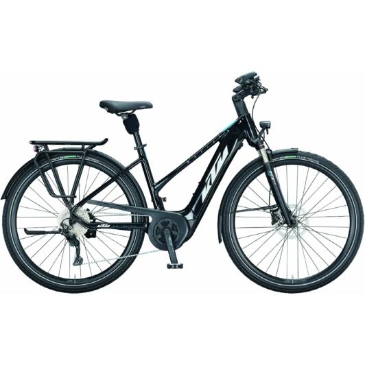 KTM MACINA TOUR P 610 EASY ENTRY metallic black (white+blue) Unisex Elektromos Trekking Kerékpár 2021