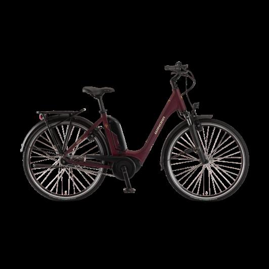 "Winora Tria N7eco 400 26"" Burgundyred EASY ENTRY Unisex Elektromos Kerékpár 2021"