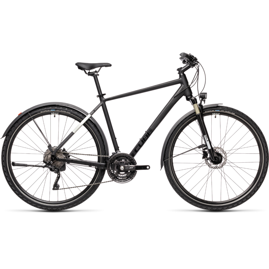 "CUBE NATURE EXC ALLROAD BLACK´N´GREY 28"" 2021"