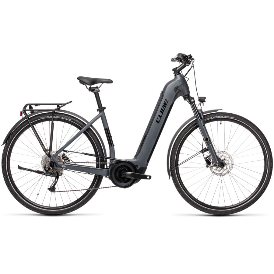 CUBE TOURING HYBRID ONE 625 EASY ENTRY grey´n´black Unisex Elektromos Trekking Kerékpár 2021