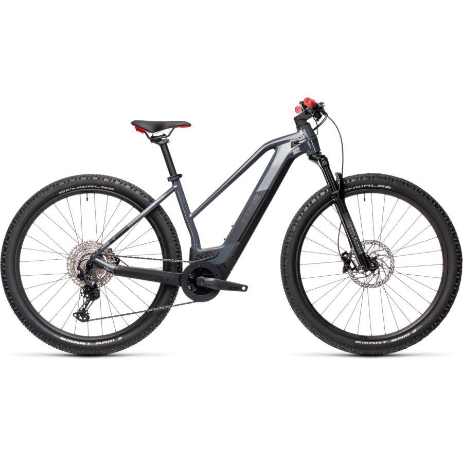 CUBE REACTION HYBRID RACE 625 TRAPÉZ grey´n´red Női Elektromos MTB Kerékpár 2021