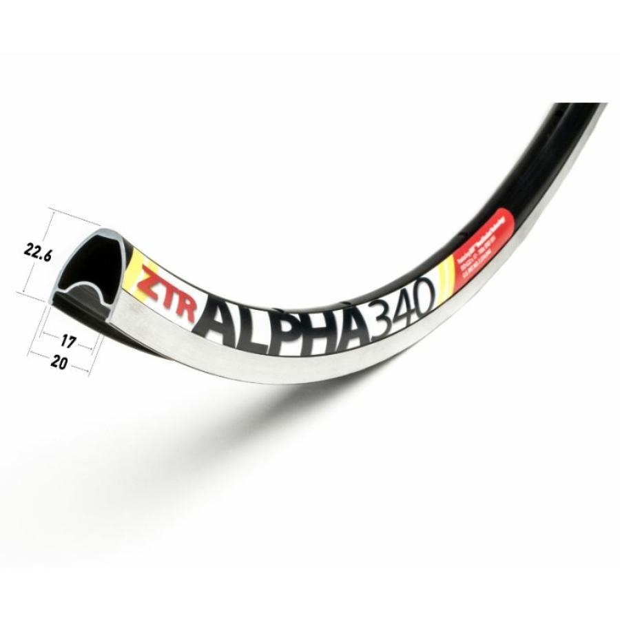 Abroncs Nutubes ZTR Alpha 340 28 lyuk 622 fekete
