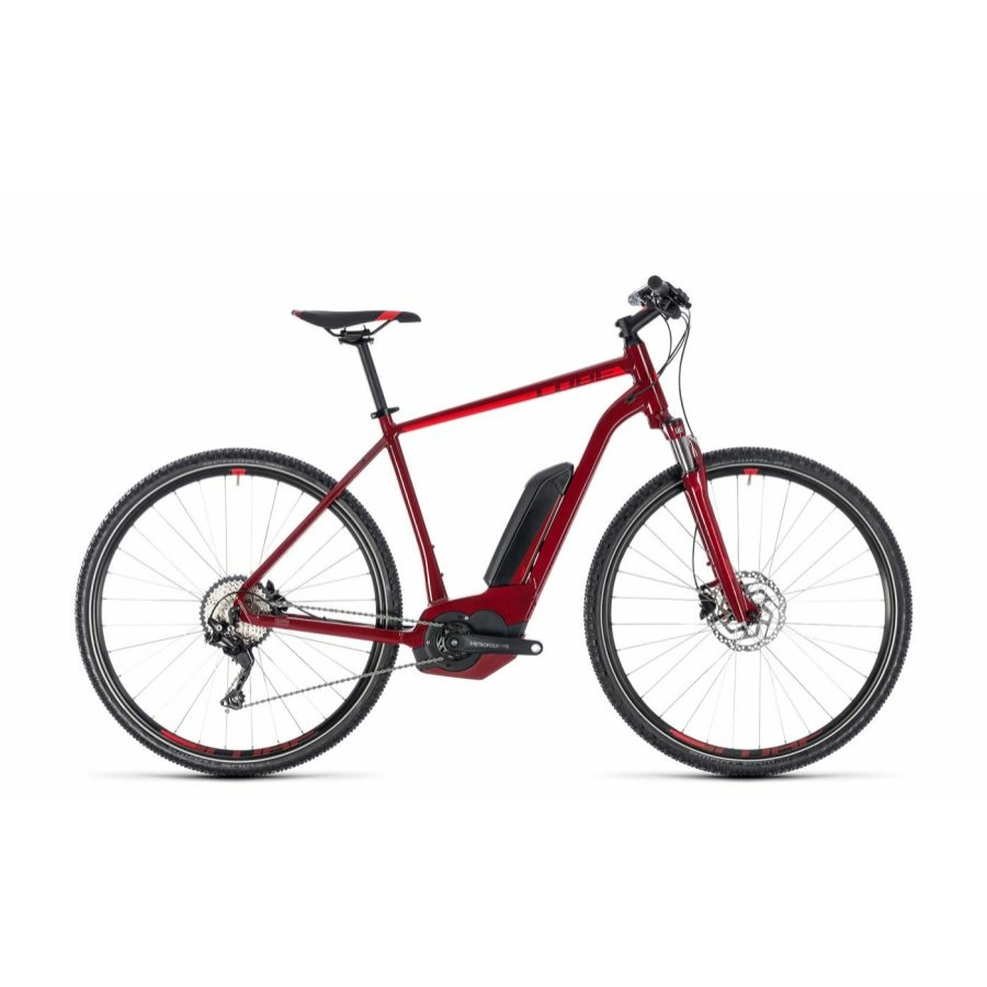 CUBE CROSS HYBRID PRO 400 DARKRED´N´RED 2018 Elektromos Kerékpár