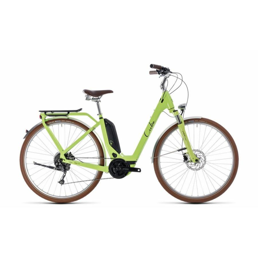 CUBE ELLY RIDE HYBRID 500 GREEN´N´BLACK 2018 EASY ENTRY Elektromos Kerékpár