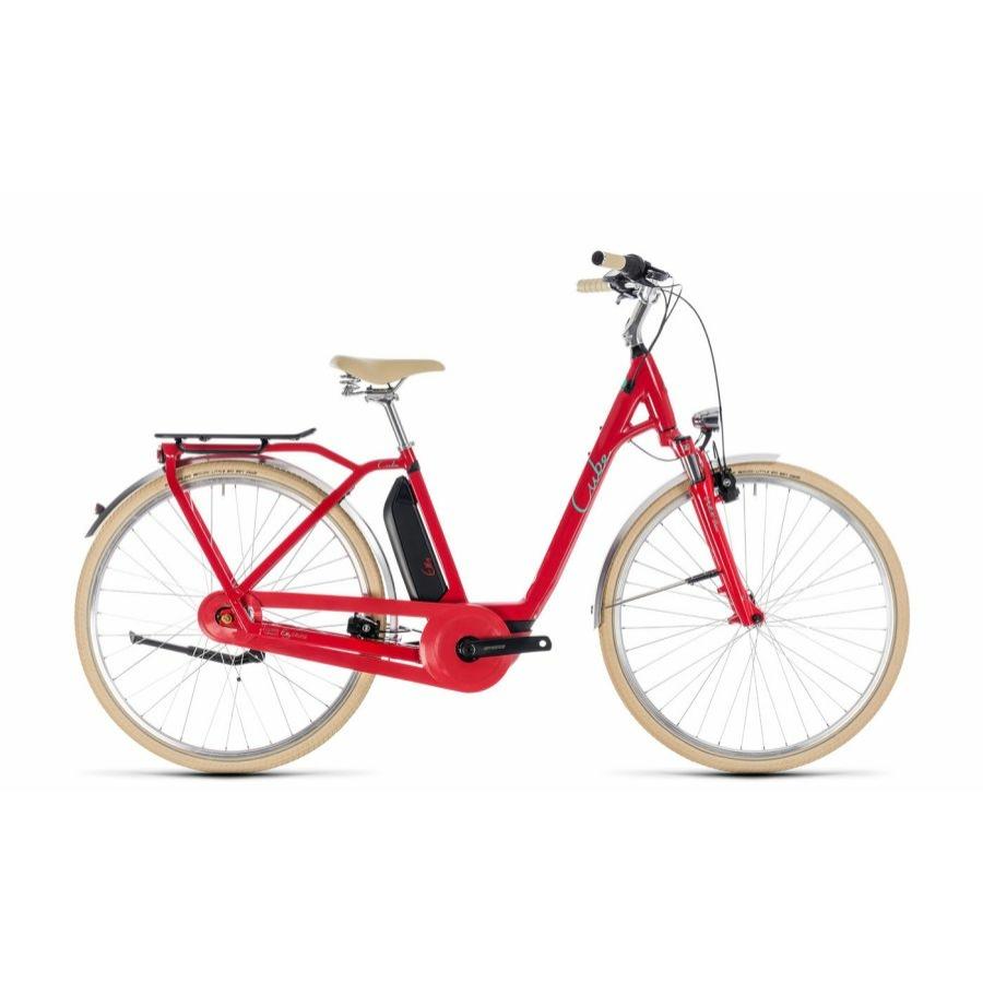 CUBE ELLY CRUISE HYBRID 500 RED´N´MINT 2018 EASY ENTRY Elektromos Kerékpár