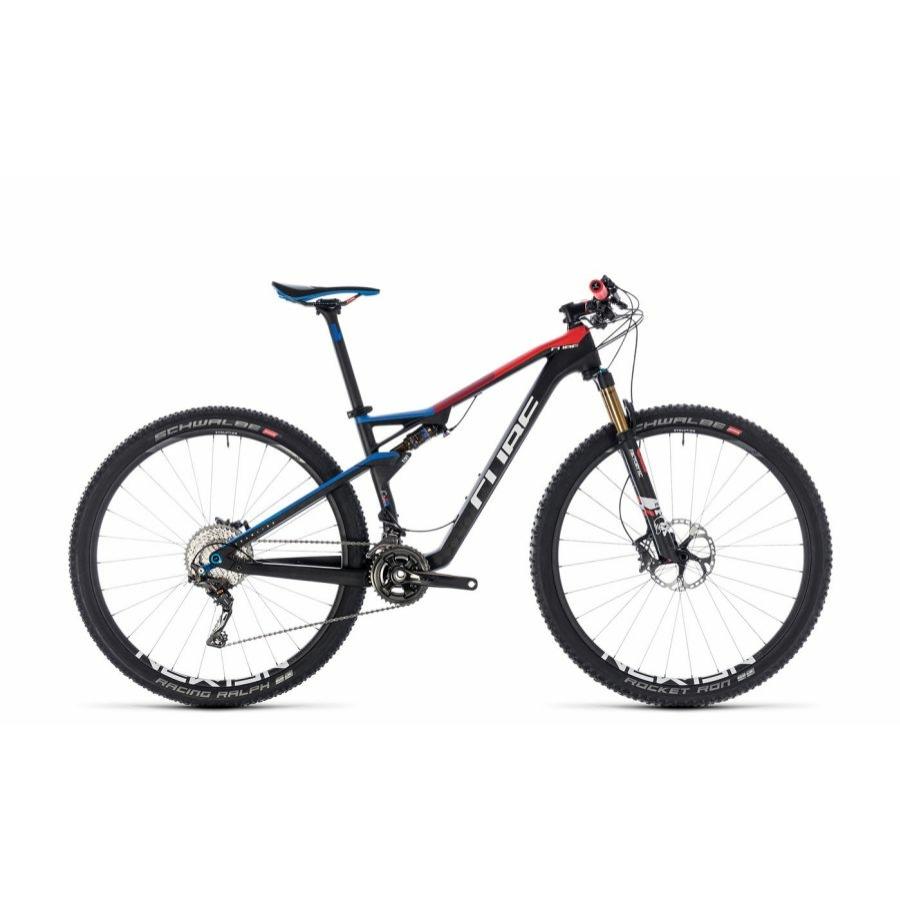 """CUBE AMS 100 C:68 SL 29 TEAMLINE 2018 29"""" Összteleszkópos MTB Kerékpár"""